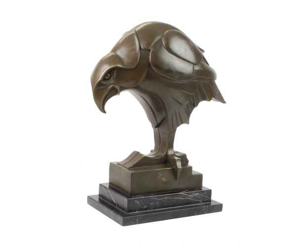 Bronzeskulptur Adler im Antik-Stil Bronze Figur Statue 40cm