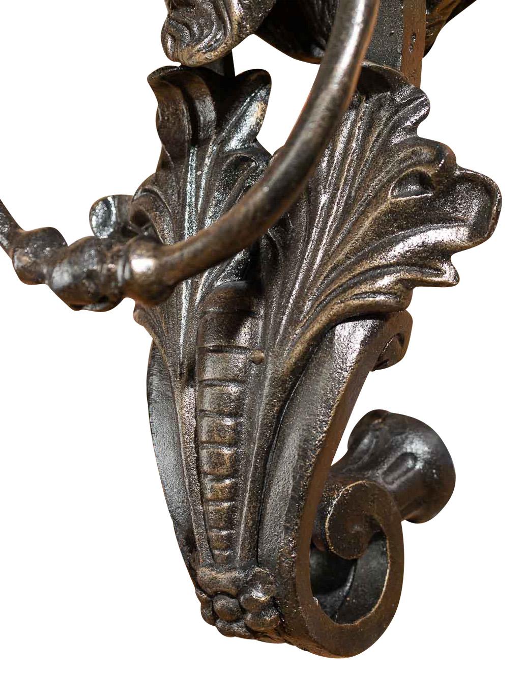 Historischer T/ürklopfer xxl 40cm 5kg Eisen L/öwe antik Stil T/ürbeschlag T/ür