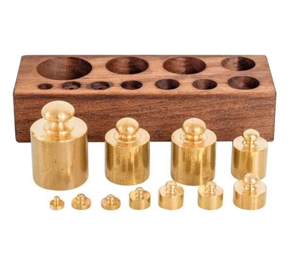 Gewichtsatz 1 bis 200g für Waage Goldwaage Balkenwaage Apothekerwaage Antik-Stil