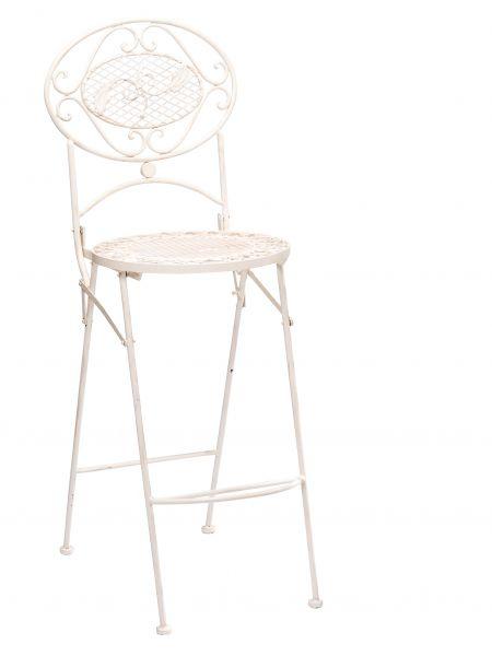 Barhocker Bar Stuhl Gartenstuhl Klappstuhl Antikstil cremeweiß garden chair