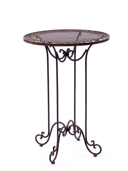 Bistrotisch Tisch.Vintage Style Garden Table Raised Table Wrought Iron 3 4