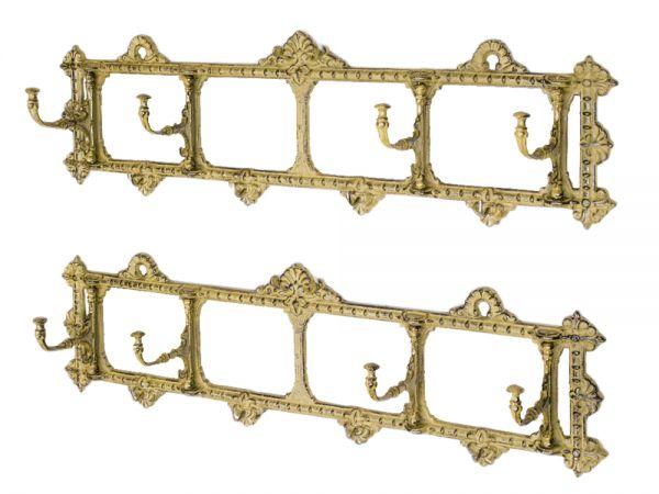 2x Wandgarderobe Garderobe Jugendstil antik Stil 63cm Metall wardrobe metal