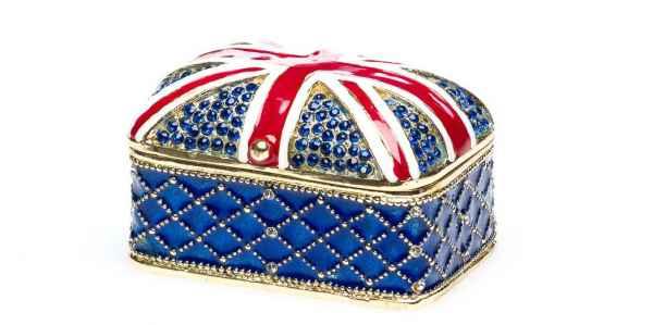 Schmuckschatulle Englische Flagge Pillendose England Schmuckdose jewelry