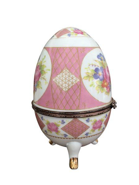 XL porcelaine oeuf fleur boîte à bijoux oeuf oeuf de style antique