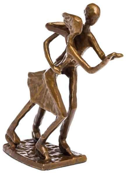 Skulptur Tänzer Eiskunstlauf Antik-Stil Bronze Figur Moderne Pokal Trophäe