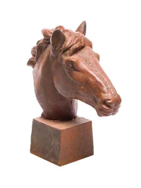 Skulptur Figur Pferd Eisen sculpture iron Horse 62cm Pferdekopf 44kg schwer