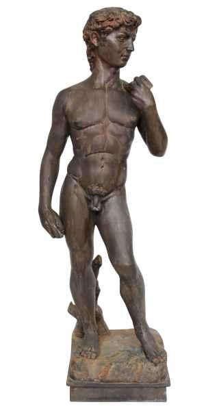 Bronzeskulptur Garten Adonis Adam David 142cm Skulptur Antik-Stil Replika Kopie