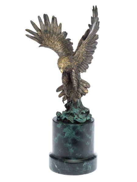 Bronzeskulptur Adler Greifvogel Bronze Figur Skulptur 48cm sculpture eagle
