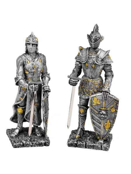 Paar Ritter mit Schwert Mystik Fantasie Fantasy Figur Skulptur deko