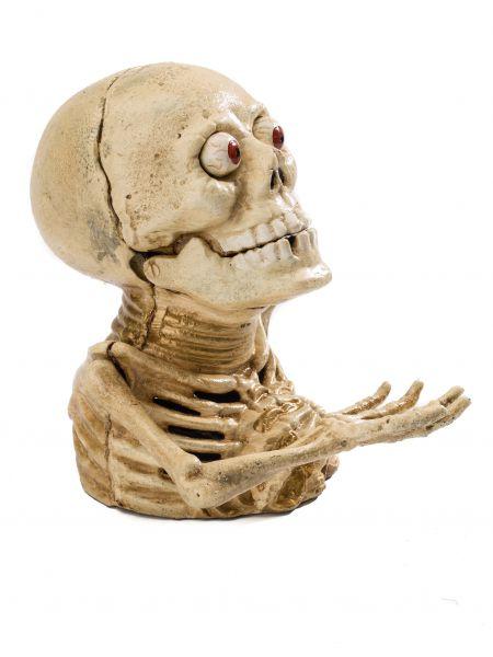 Spardose Skelett Gerippe Totenkopf Gothic Gusseisen Anatomie antik Stil LARP