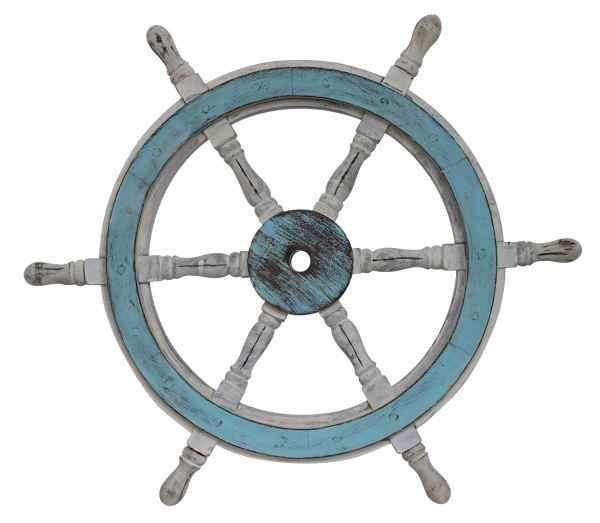 Schiffssteuerrad Schiffsrad Steuerrad Schiff Schiffe Boot 61cm Holz Antik-Stil
