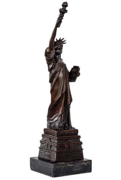 Bronzeskulptur Bronze Figur USA Freiheitsstatue New York Statue Antik-Stil