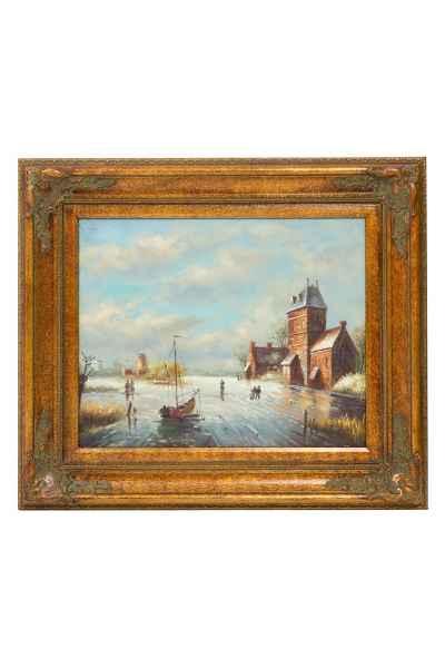 Ölgemälde Windmühle Holland Netherland Niederlande Gemälde painting antik Stil