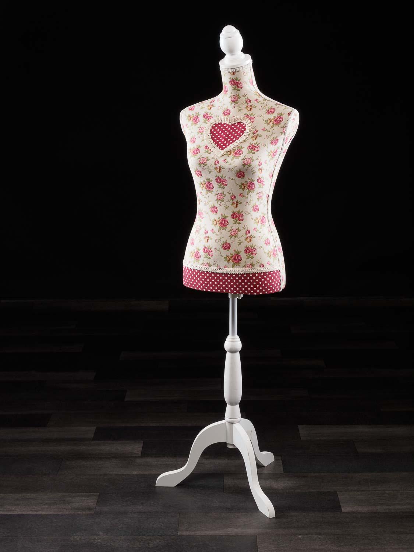 Schaufensterpuppe Schneiderbüste Antik-Stil Herz Liebe Mannequin Schneiderpuppe