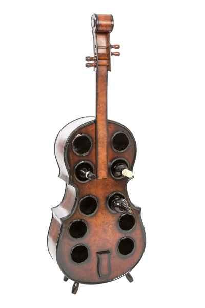 Flaschenregal Cello 135cm Holz Weinregal Kontrabass Weinständer Regal Flasche