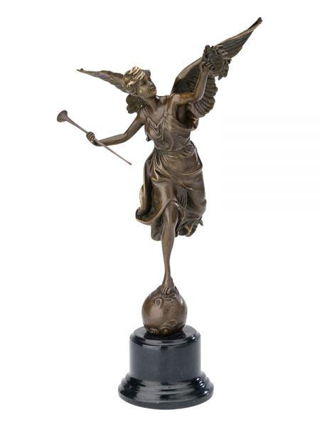 Bronzeskulptur 39cm winged victory Flügel Bronzefigur Bronze Antikstil sculpture