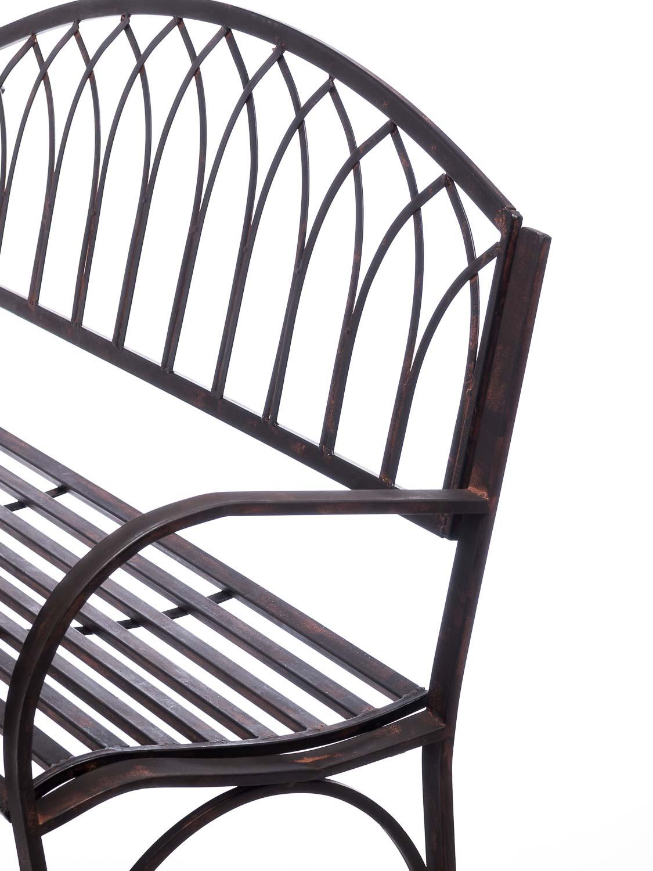 nostalgie gartenbank metall eisen antik stil braun gartenm bel garten park bank aubaho. Black Bedroom Furniture Sets. Home Design Ideas