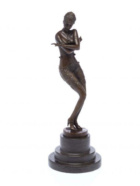 Bronze Skulptur nach Ferdinand Preiss (1882-1943) Tänzerin art deco style