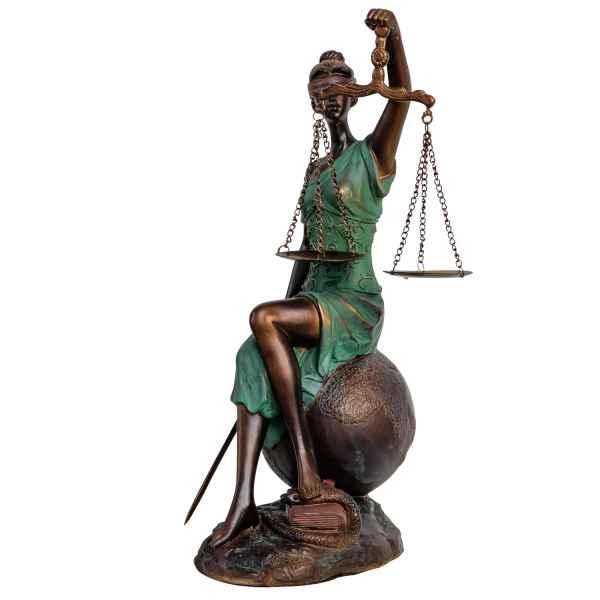 Skulptur Justitia Justizia mit Waage Figur Skulptur im Antik-Stil - 38cm