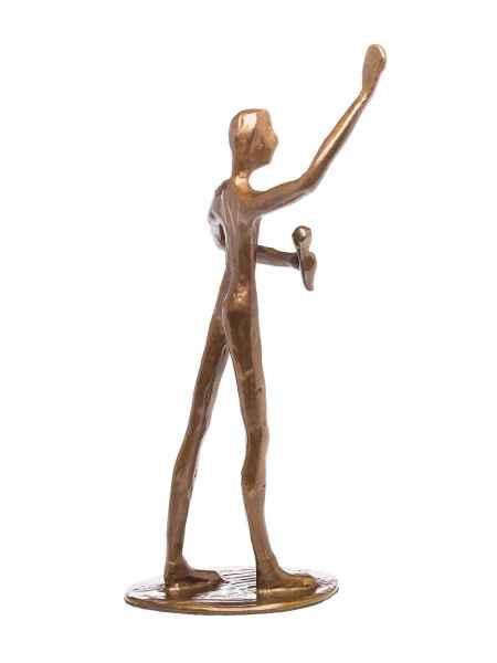 Skulptur Sänger Künstler Mikrofon Moderator Antik-Stil Bronze Figur Moderne