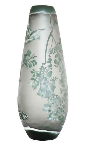 Florero réplica según Galle Gallé vidrio cristal estilo antiguo copia jarrón e