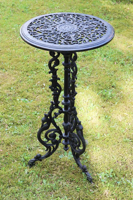 Gartentisch Gusseisen 72cm Tisch Beistelltisch Eisen Antik Stil