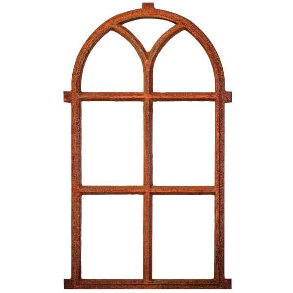 Nostalgie Stallfenster 100x59cm Fenster Scheunenfenster Rostig antik Stil Eisen