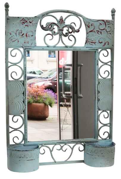 Spiegel Metall Wandspiegel Standspiegel mit Behältern Antik-Stil