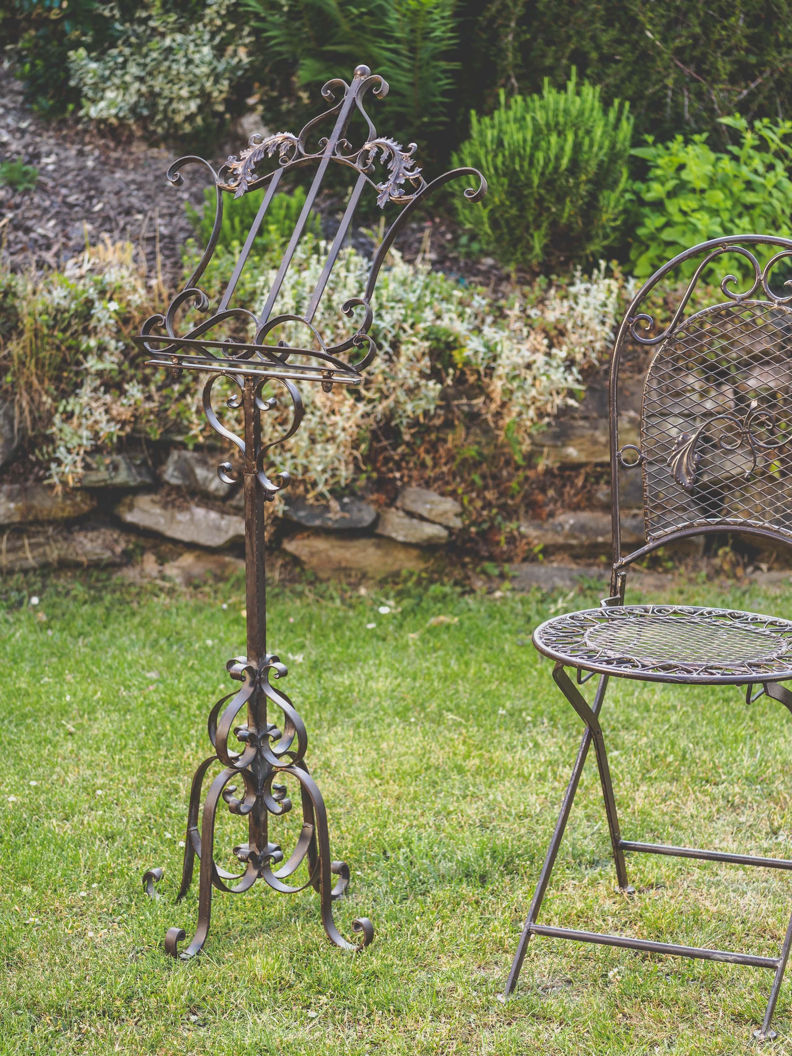 Notenständer Eisen Aufsteller Notenpult Barockstil bis 170cm