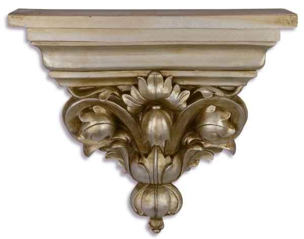 Konsole Ablage Regal Wandregal Wandkonsole Silber Antik-Stil 33cm