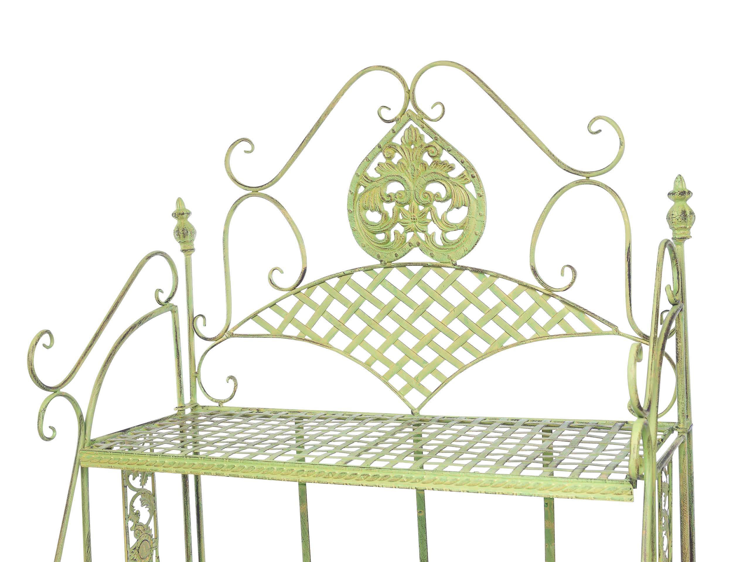 Etagère de Jardin fer forgé 175cm style antique vert 13kg