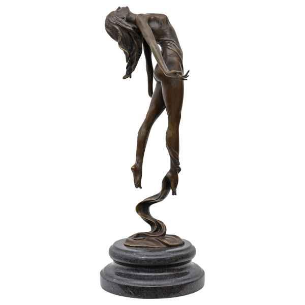 Bronzeskulptur Frau Tänzerin im Antik-Stil Bronze Figur Statue 41cm