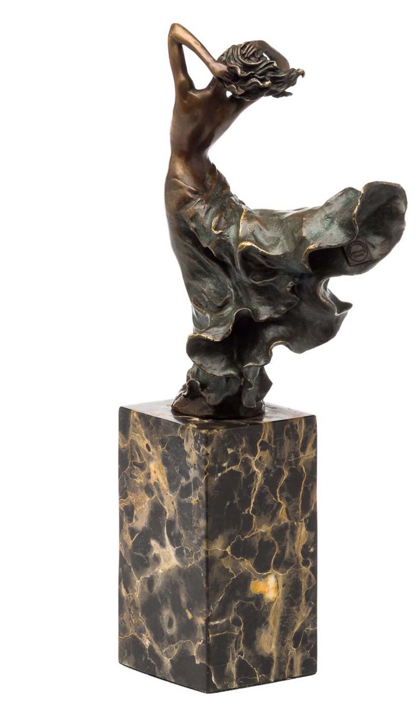33cm Bronzeskulptur erotische Kunst Akt Frau Antik-Stil Bronze Figur