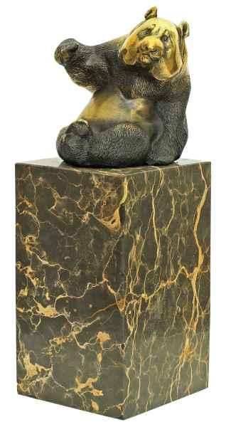 Bronzeskulptur Panda im Antik-Stil Bronze Figur 22cm