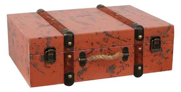 Koffer Holzkoffer Holz Nostalgie Antik-Stil Oldtimer Kiste 38cm Vintage