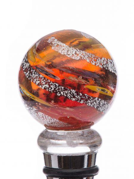 Flaschenverschluss Glaskorken Glasverschluss rot Murano Stil bottle stopper