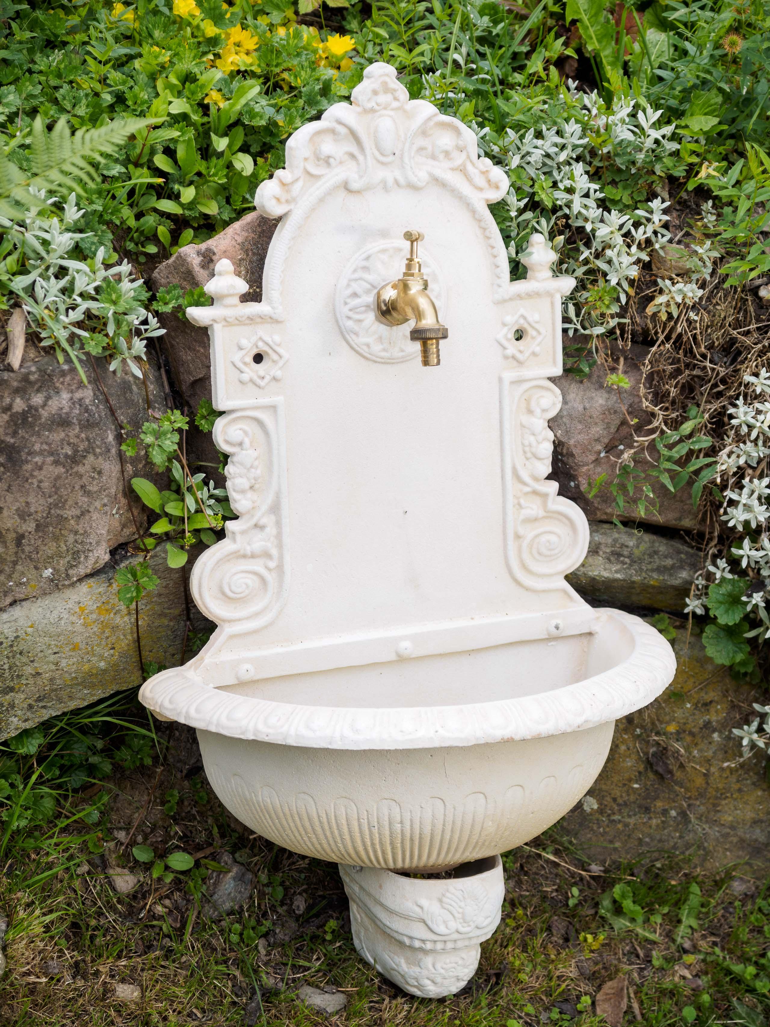Wandbrunnen Brunnen Gartenbrunnen Garten Waschbecken Antik Stil