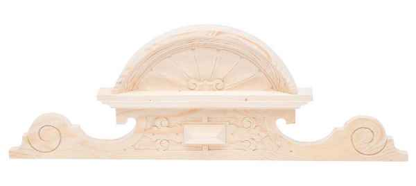 Schrankkrone Holz Schrankaufsatz Schrank Krone 24cm x 68cm Bekrönung antik Stil
