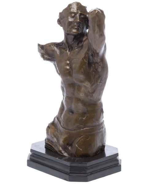 Bronzeskulptur Torso Mann erotische Kunst Bronze Skulptur Figur sculpture