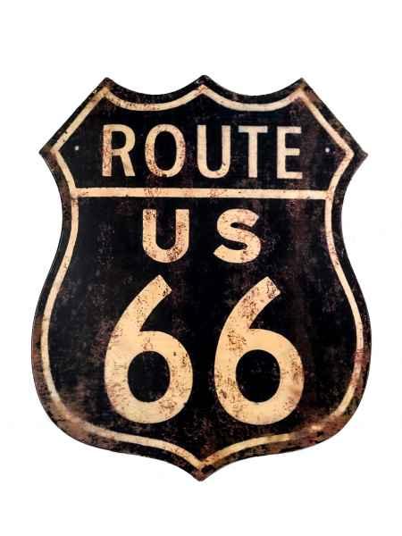 Blechschild Wandschild Route 66 Magnettafel Amerika USA 55cm Antik-Stil