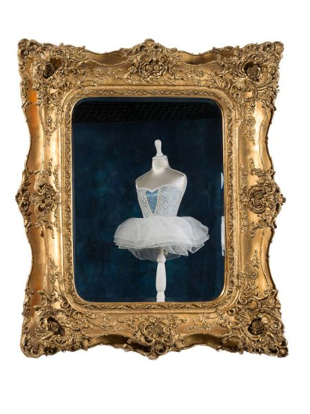 Spiegel Prunkspiegel 125x102cm im antik Stil goldfarben Wandspiegel mirror