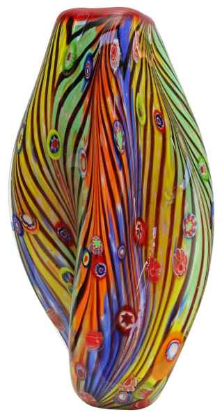 Glasvase Vase Glas im Murano Antik Stil 35cm