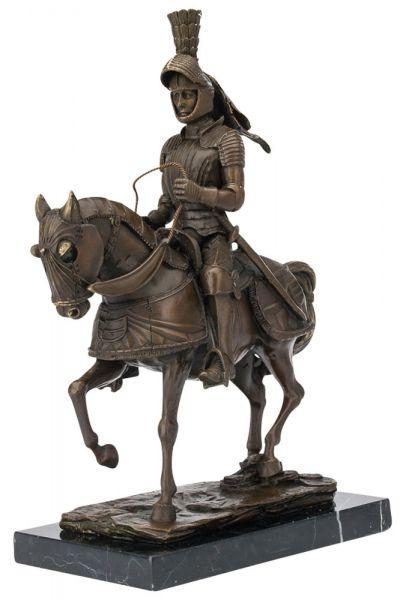 Bronze Ritter Reiter Pferd Bronzefigur 32cm Bronzeskulptur antik Stil sculpture