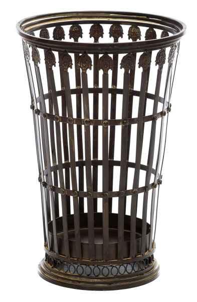 Nostalgie Schirmständer Eisen Korb Papierkorb antik Stil umbrella stand iron