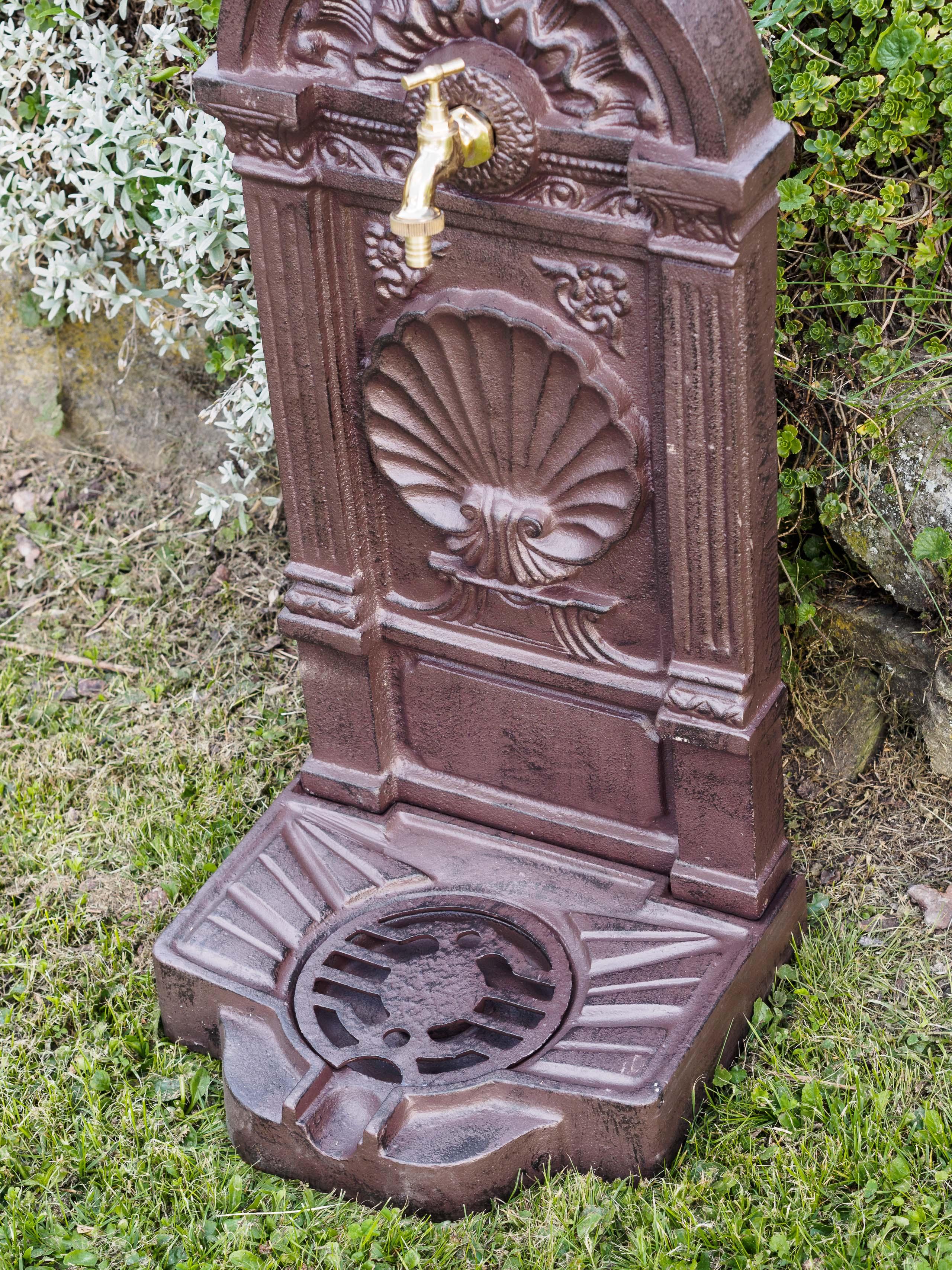 Waschbecken Standbrunnen Garten Eisen Antik Stil Brunnen Waschplatz