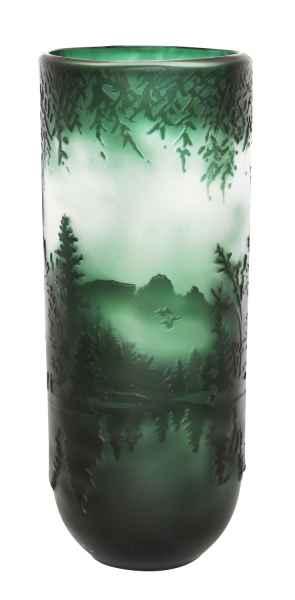 Vase Replika nach Galle Gallé Glasvase Glas Antik-Jugendstil-Stil Kopie l