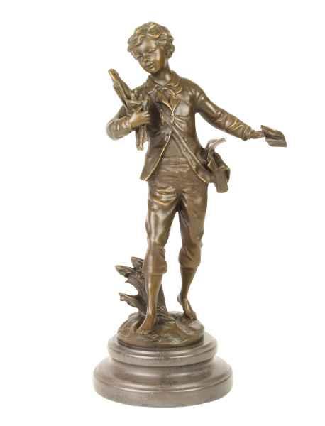 Bronzeskulptur Junge im Antik-Stil Bronze Figur Statue 36cm