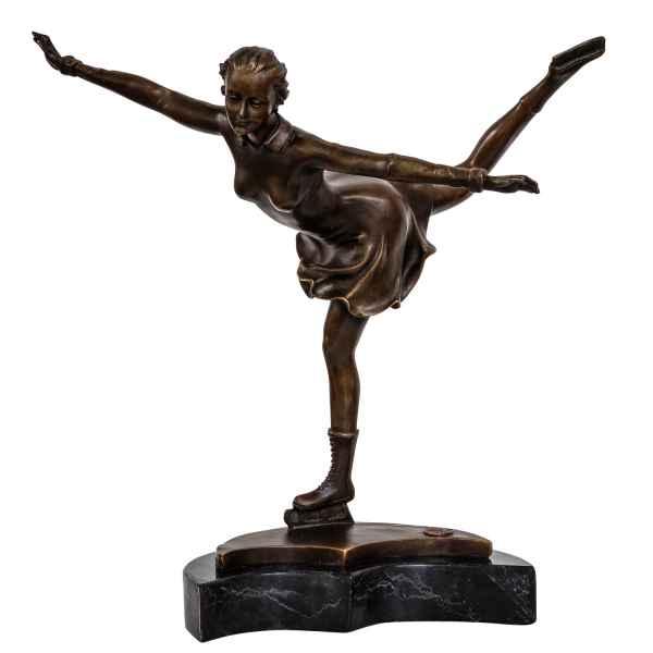 Bronzeskulptur Eiskunstlauf Schlittschuhe Antik-Stil Bronze Figur Statue 30,7cm