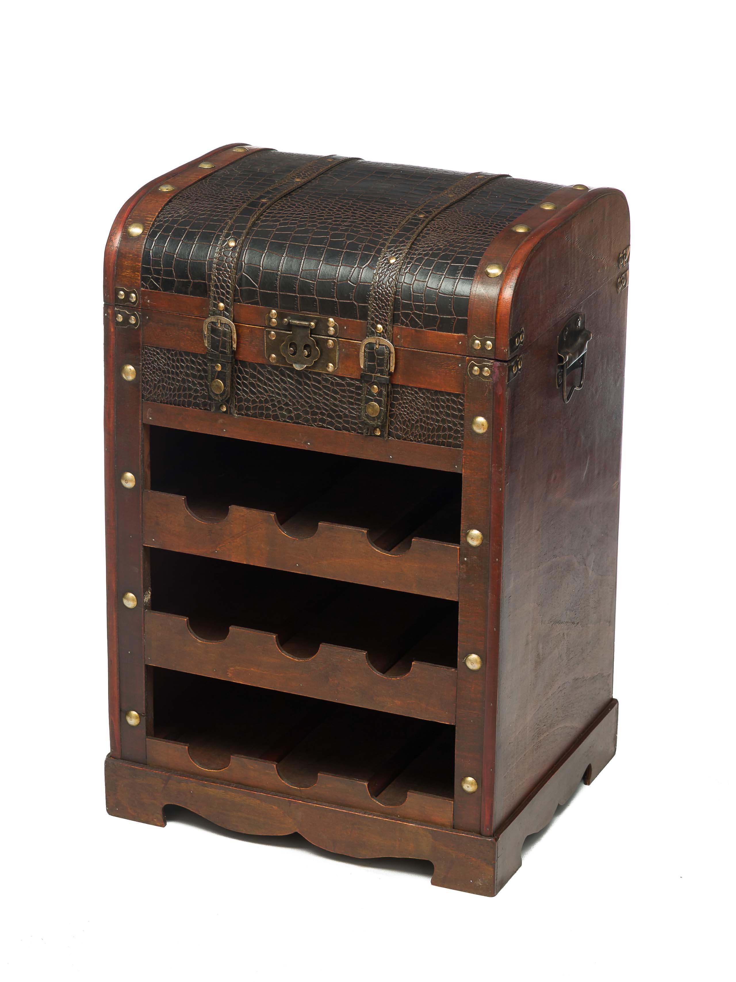 weinregal flaschenregal wein antik stil holz weintruhe weinschrank holz koffer aubaho. Black Bedroom Furniture Sets. Home Design Ideas