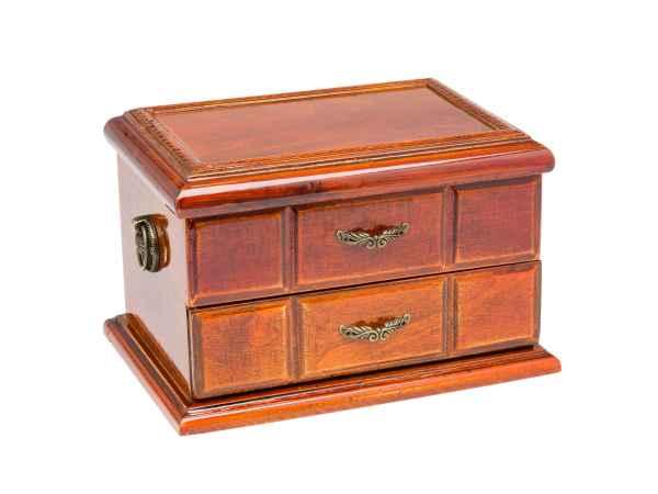 Schmuckschatulle Schmuckkasten im antik Stil Dose Box Holz für Schmuck geeignet